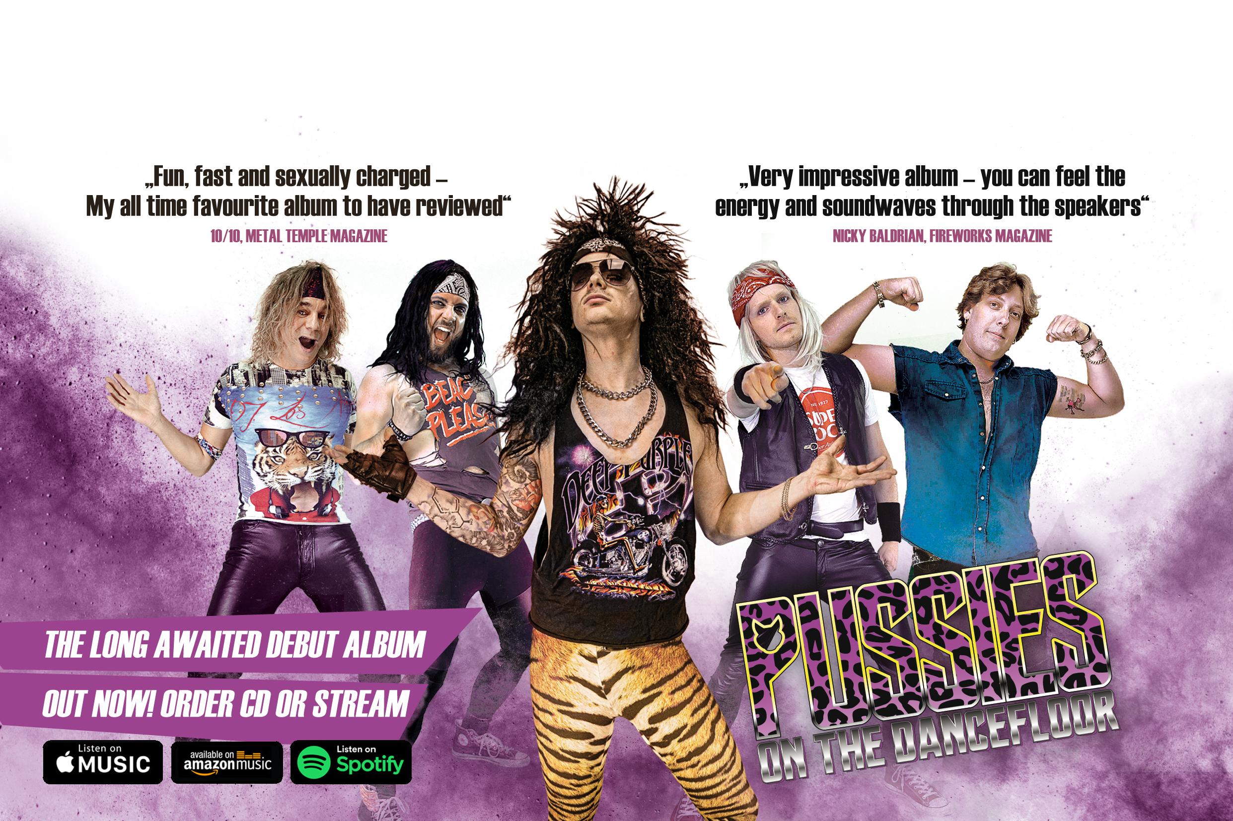 Pussies on the Dancefloor Glamrock Header
